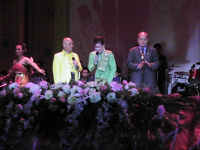 Thai celebrities at Ubon Candle Festival Cultural Show